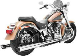 Freedom Perf Racing Dual Exhaust Sys Chrome/ Black Tip -hd00204