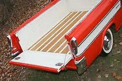 Chevrolet Chevy Cameo Gmc Truck Polished Billet Aluminum Bed Rail Set 1955-1958