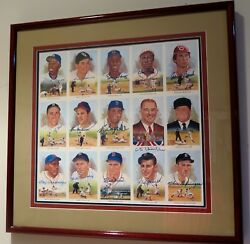 FRAMED PEREZ STEELE CELEBRATION SET-MICKEY MANTLE TED WILLIAMS ROY CAMPANELLA