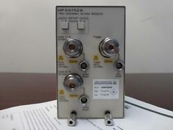 Agilent HP 54752A 50GHz Dual Channel Electrical Module 86100 83480 - CALIBRATED!