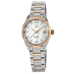 New Tag Heuer Carrera Automatic Mother of Pearl Women's Watch WAR2452.BD0777