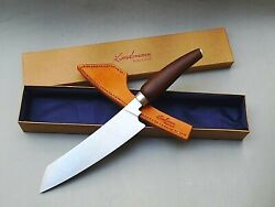 Chef Kitchen Knife Hard Wood/ Sterling Silver Handmade Engraving Incl.