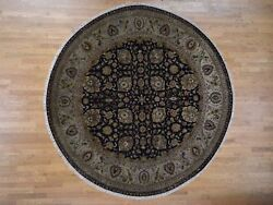 10and039x10and039 New Zealand Wool Tebraz 300 Kpsi Hand Spun Round Hand-knotted Rug R42271