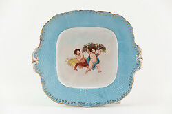 Herend Plate Two Boys Porcelain Hungary Rare Ca.1900 P055