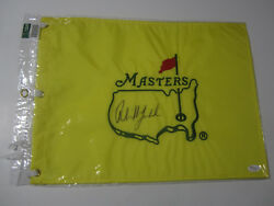 Phil Mickelson Pga Signed Autographed Masters Yellow Pin Flag Jsa Coa