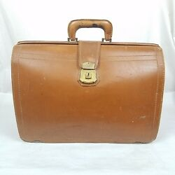 Super Rare Vtg 1949 Briefcase ☆ Property Of Shell Oil Company ☆ Mutual Leather