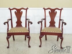 30101ec Pair Walnut Bench Made Philadelphia Style Bench Made Arm Chairs