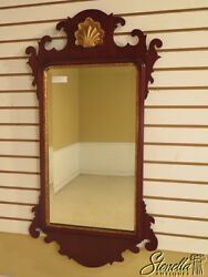 39222 Friedman Brothers 6071 Chippendale Mahogany Shell Top Mirror New
