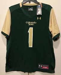 New 65 Colorado State Rams Youth Under Armour Boy Jersey 1 Size Yl Loose Large