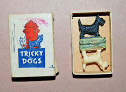 1946 Tricky Dogs Scottie Scottish Terrier Magnet Toy Dogs By Fish Love
