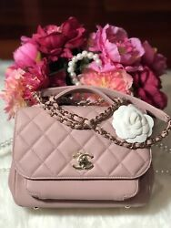 💯Authentic CHANEL MEDIUM PINK BUSINESS AFFINITY IN CAVIAR GHW HARD TO FIND