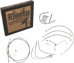 Burly Cable And Brake Line Kits - Stainless Braid 18in. Gorilla Bars B30-1154
