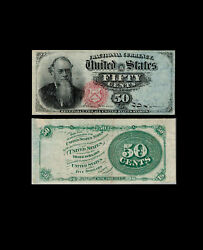 294-united States. 50 Cents. Fractional Currency. Pick 120. New York. Choice Vf.