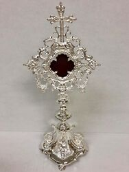 + Silver Plated Brass Reliquary For Your Relic + 84s + Church + Chalice Co.