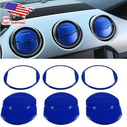 9pcs Interior Air Conditioner Outlet Vent Cover Trim For Ford Mustang 2015-2018
