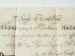 1847 Valentine Bank Of True Love Banknote Lace Doily Chatham Tombstone Entire