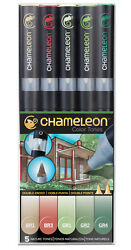 Chameleon Color Tones Pen Set 5pc Nature Tones CT0514 Artist Alcohol Markers
