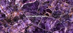 Exclusive Agate Amethyst Dark With Led Light Inlay Table Occasion Decorate E209