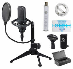 Audio Technica AT4033A Gaming Twitch USB Microphone+Stand+Shockmount+Pop Filter