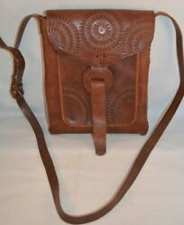 Handmade Leather Satchel Purse Messenger Tote Bag Brown $19.99