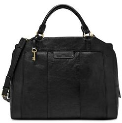 Fossil ZB6977001 Logan Large Laptop Leather computer briefcase bag black NWT