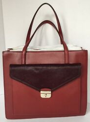 AUTHENTIC KATE SPADE Color Blocked Carryall with Calf Fur NEW w TAGS (18-105)