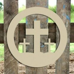 Wood Easter Crosses Shape Unfinished Shape Wood Cutout Wooden Paintable Craft