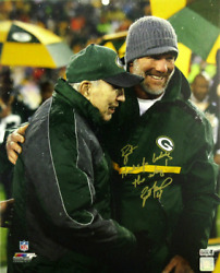 Brett Favre Signed Green Bay Wrapped Canvas - Bart, Thanks For Leading The Way