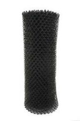 300' Of 4' High Black Pool Code Chain Link Wire 1-1/4 Mesh Fabric 11 Gauge