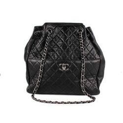 Chanel Quilted Drawstring Bucket Bag