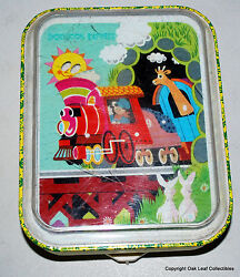 J Chein Musical Wind Up - Moving Storybook Express Toy Little Red Engine