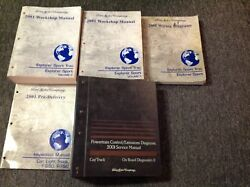 2001 Ford Explorer Sport Trac Service Shop Repair Manual Set W EWD Inspection PC