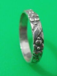 Antique Sterling Silver Original Ring Fascinating Size 8 Classic Mark 900/ 800