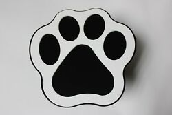 Gtg White Black Dog Animal Paw Rescue Hitch Cover Plug Trailer Receiver Towing
