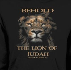 CHRISTIAN BEHOLD THE LION OF JUDAH HOODIE *OLDSKOOL* Men Shirt
