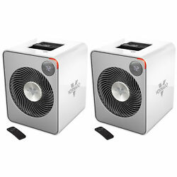 Vornado 2 Setting Whole Room Circulation Auto Climate Space Heater (2 Pack)