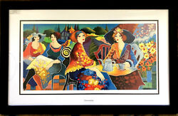 Patricia Govezensky Relaxed Afternoon In The Garden Serigraph Artwork 158/375