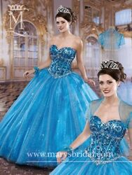 Blue/multi Colored Maryand039s Bridal Quinceanera Dress Size 6