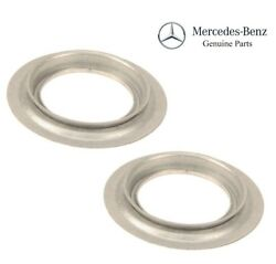 Pair Set Of 2 Rear Axle Shaft Side Dust Shield Cover Genuine For X166 W221 R231
