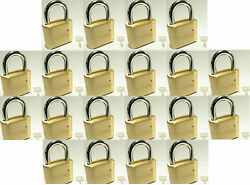 Master Lock Solid Brass 175 Lot 20 Set To Your Own Combination Padlock