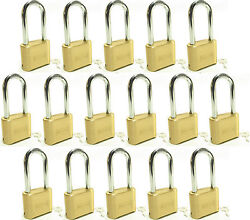 Master Lock Solid Brass 175lh Lot Of 16 Set To Your Own Combination Padlock