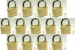 Master Lock Solid Brass 175 Lot 13 Set To Your Own Combination Padlock