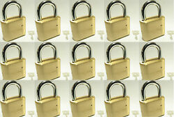 Master Lock Solid Brass 175 Lot 15 Set To Your Own Combination Padlock