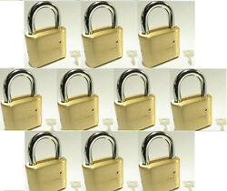 Master Lock Solid Brass 175 Lot 10 Set To Your Own Combination Padlock