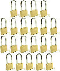 Master Lock Solid Brass 175lh Lot Of 21 Set To Your Own Combination Padlock
