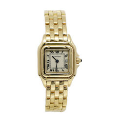 Panthere 18k Yellow Gold Quartz Watch 100 Authentic