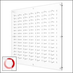 Wall Mount Acrylic Optical Frame Display With Hardware - In Frosted White 105f