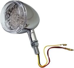 K And S Chrome Dot Approved/e-marked Aluminum Body Turn Signals - Clear 44 Leds