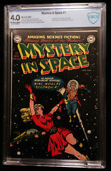 1951 Dc Mystery In Space 1 Cbcs 4.0 Off White To White Pages