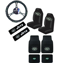 New Nfl New York Jets Car Truck Seat Covers Steering Wheel Cover Floor Mats